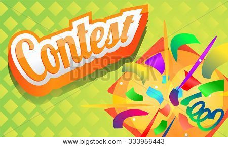 Contest Concept Banner. Cartoon Illustration Of Contest Vector Concept Banner For Web Design
