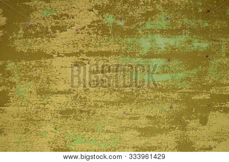 Grunge Yellow Ocher Wall Texture As Shabby Background