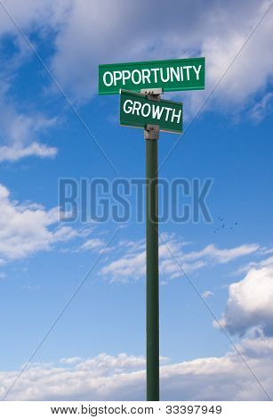 Opportunity-Growth Sign