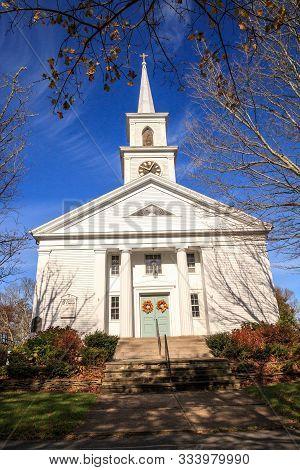 Grace Church In Dennis, Massachusetts On Cape Cod.