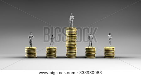 Economic Inequality and Unfair Income Pay Distribution Concept 3D Render