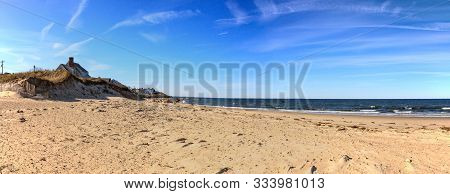 Sea Street Beach In Dennis, Massachusetts On Cape Cod