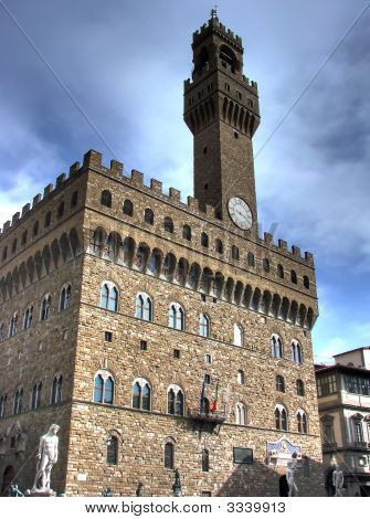 Palazzo Vecchio Portrait Hdr