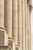 The Corinthian style columns at the facade of the Utah State Capitol Building poster