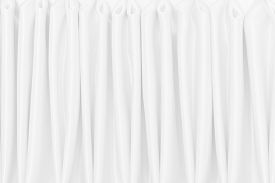 White Silk Satin Background Smooth Texture Background. Abstract Grey Wavy Fabric Cloth Pattern Or Ca