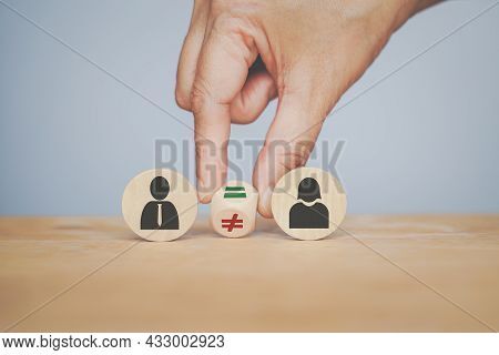 Hand Turning Sign ,not Equal  To Equal Between Male And Female Gender Icon, Equality, Human Right Co
