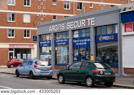 Le Havre, France - August 8, 2021: Argos Security Realizes The Intervention On All Alarm Systems, Tr