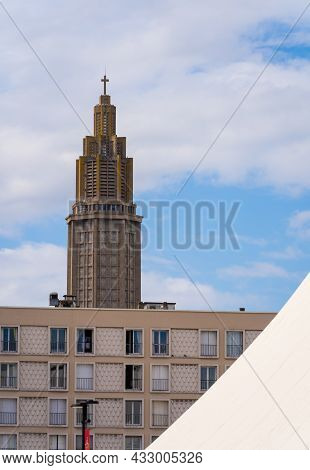 Le Havre, France - August 8, 2021: St. Joseph's Church Is A Roman Catholic Church In Le Havre From 1
