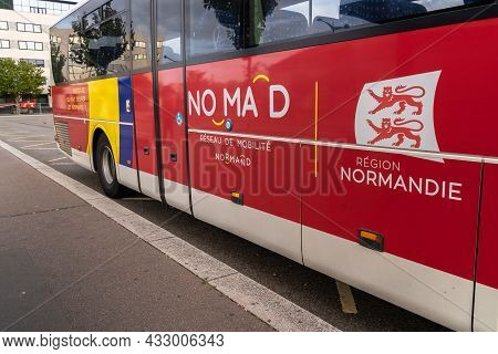 Le Havre, France - August 8, 2021: Nomad Is The Norman Mobility Network That Brings Together All Reg