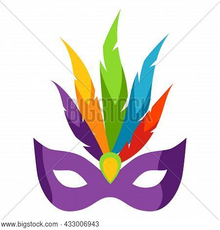 Mardi Gras Carnival Mask. Illustration For Traditional Holiday.