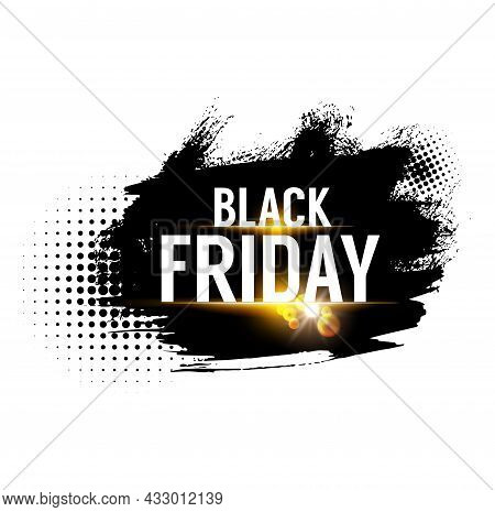 Black Friday Sale Banner, Weekend Shop Offer And Promo Label, Vector Store Discount Promotion. Black