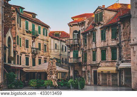 Fruit Old Square In Split, Croatia In Diolectians Palace Area, Unesco Heritage. Travel Destination B