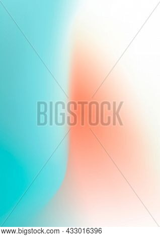 Abstract blue and orange mesh gradient background
