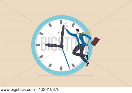 Success Time Management, Finish Work And Appointment In Time Or Work Efficiently With High Productiv