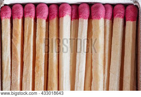 Whole Matches Folded Exactly In Box, Macro Close-up