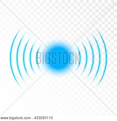 Signal Sound Wave Icon Circle. Pulse Vector Sonic Digital Graphic Noise Symbol Wave