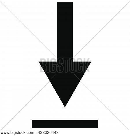 Download Arrow. Black Download Arrow. Vector Eps 10