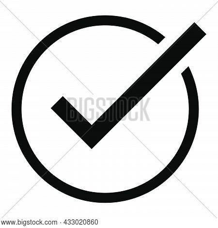 Transparent Checkmark Tick. Outline Correct Symbol. Yes Sign In Circle. Checkmark Illustration. Vote
