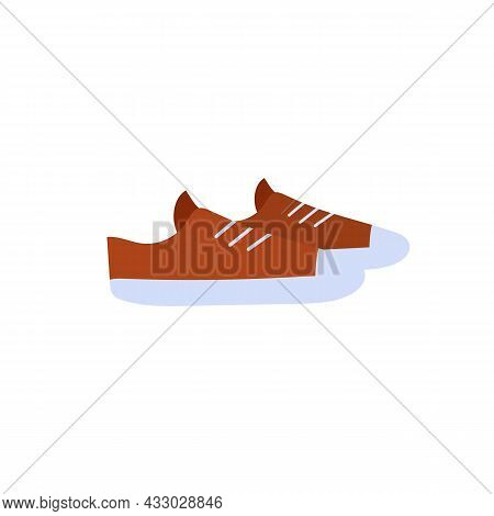 Vector Cartoon Flat Fashionable Sneakers.new Trendy Beautiful Footwear Isolated On Empty Background-