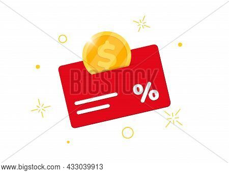 Loyalty Program Bonus Card. Earn Money Or Points. Purchase Percent Return Customer Service Business
