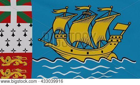 Flag Saint Pierre And Miquelon Patriotism National Freedom , 3d Illustration