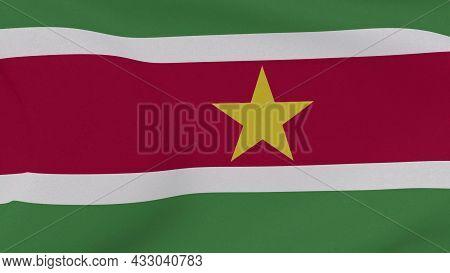 Flag Suriname Patriotism National Freedom, 3d Illustration