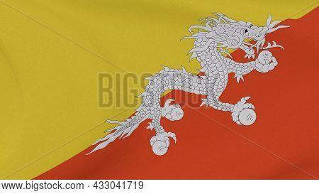 Flag Butane Patriotism National Freedom, 3d Illustration