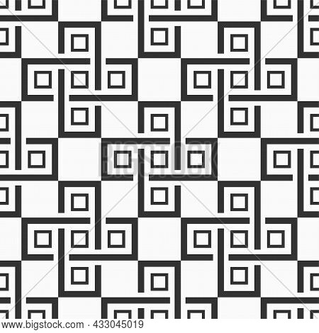 Vector Seamless Pattern. Modern Stylish Texture. Repeating Geometric Tiles With Intertwining Cross S