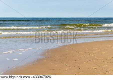 Sea Waves Against The Sky. Background Or Texture