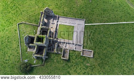 An Aerial View Of The Ruins Of Hore Abbey In County Tipperary, Ireland