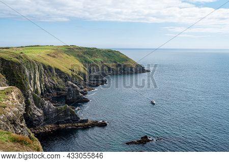The Sea Cliffs Of Old Head Kinsale In County Cork Ireland