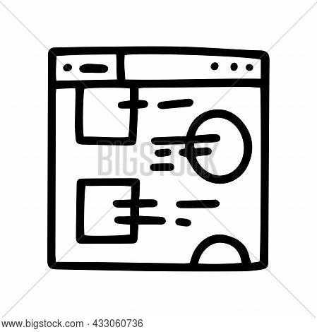 Design Website Line Vector Doodle Simple Icon