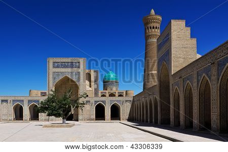 The Poi Kalyan Architectural Complex  In Bukhara, Uzbekistan