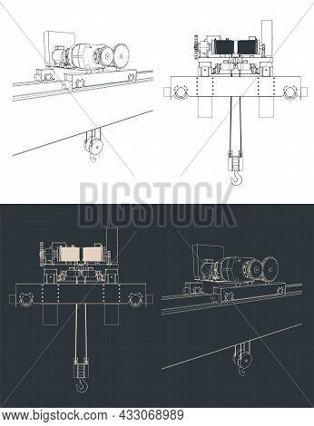 Double Girder Overhead Crane Electric Chain Hoist
