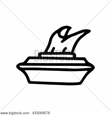 Wet Wipes Line Vector Doodle Simple Icon