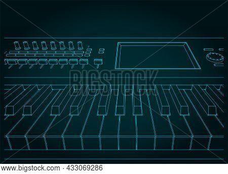 Synthesizer Keyboard Close-up