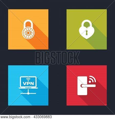 Set Safe Combination Lock Wheel, Castle The Shape Of Heart, Vpn Computer Network And Digital Door Wi
