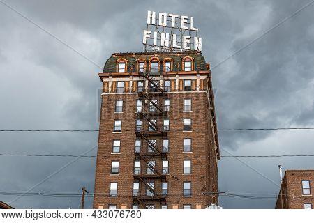 Butte, Mt, Usa - July 4, 2020: The Hotel Finlen