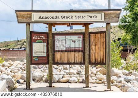 An Entrance Road Going In Anaconda, Montana