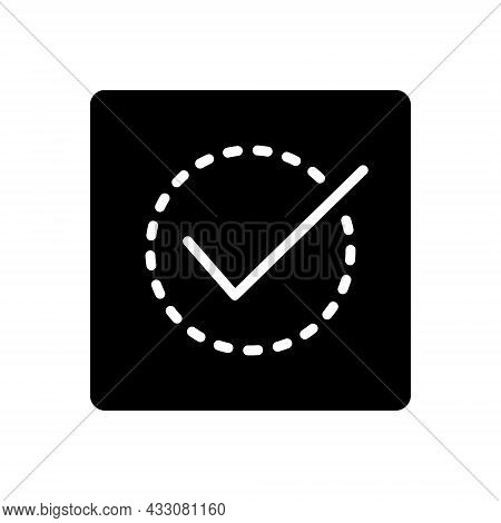 Black Solid Icon For Correct Right Accurate True Veracious Acceptance Agreement Approved Confirm Che