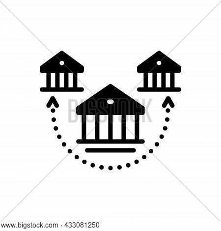 Black Solid Icon For Branch Offshoot Bough Division House Choice Subdivision Association Building Ar