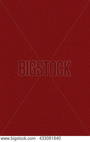 Natural Burgundy Red Dark Rustic Fine Grain Leather Texture Pattern, Vertical Grunge Rough Detailed