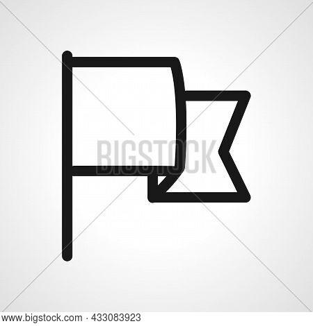 Flaq Vector Line Icon. Flaq Linear Outline Icon.