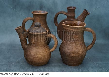 Ceramics, A Ceramic Product Made With Your Own Hands, Made On A Potter's Wheel, A Jug, A Mug.