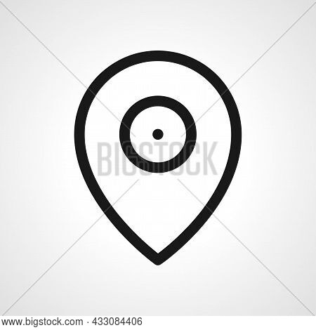 Location Pin Vector Line Icon. Location Pin Linear Outline Icon.