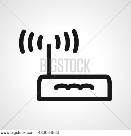 Wifi Router Vector Line Icon. Wifi Router Linear Outline Icon.