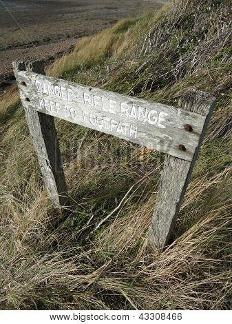 Rifle Range Warning Sign