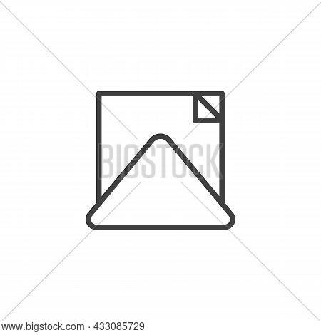 Napkin Holder Line Icon. Linear Style Sign For Mobile Concept And Web Design. Paper Napkin Outline V
