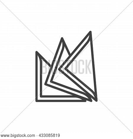 Stack Of Paper Napkin Line Icon. Linear Style Sign For Mobile Concept And Web Design. Napkin, Tissue