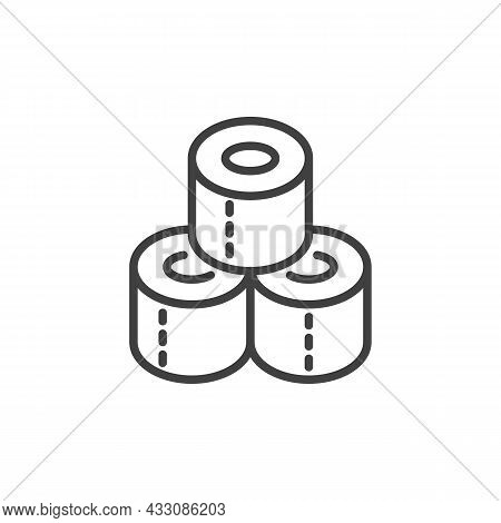 Toilet Paper Roll Line Icon. Linear Style Sign For Mobile Concept And Web Design. Toilet Paper Towel